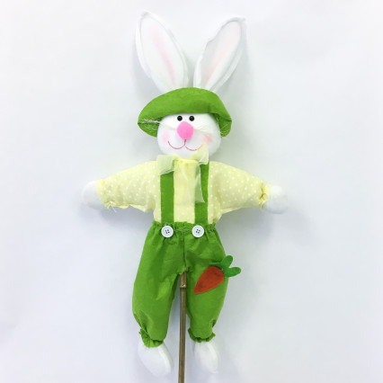 Bunny on Stake - Yellow & Green