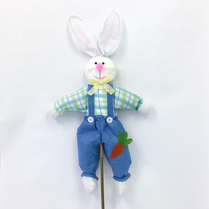 Bunny on Stake - Blue