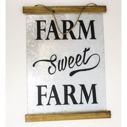 Farm Sweet Farm Galvanized Hanging Sign