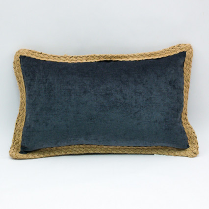 Glitz Lumbar Pillow - Gunmetal