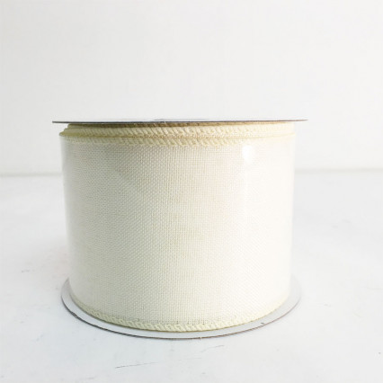 "2.5"" x 10Y Ivory Canvas Ribbon"