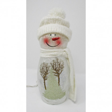 Snowman Hat and Scarf Light Up Christmas Decor