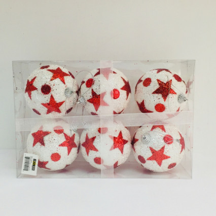 "JWM Collection 15025 4"" Star Ball Ornament 