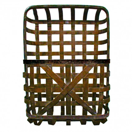 "Tobacco Basket With Pocket - 25"" Brown"