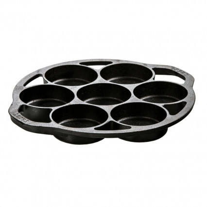 Lodge L7B3 Cast Iron Mini Cake Pan