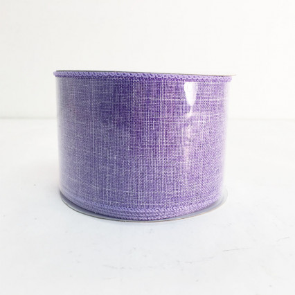 "2.5""X10Y Lavender Canvas Ribbon"