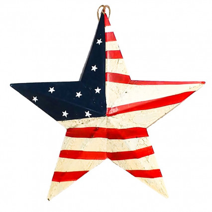 US Flag Barn Star - Large