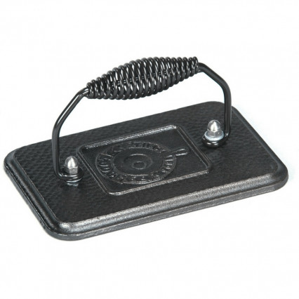 Lodge LGP3 6.75 Inch x 4.5 Inch Cast Iron Grill Press