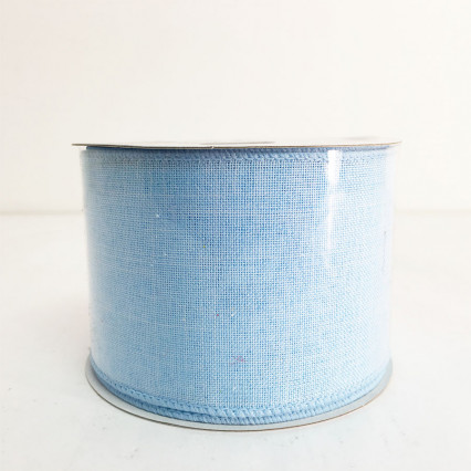 "2.5"" x 10Y Light Blue Canvas Ribbon"