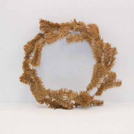 "24"" Light Brown Work Wreath"