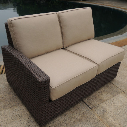 Biscayne Left Loveseat - Rosewood