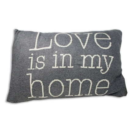 "24"" Love Is In My Home Knitted Accent Throw Pillow"