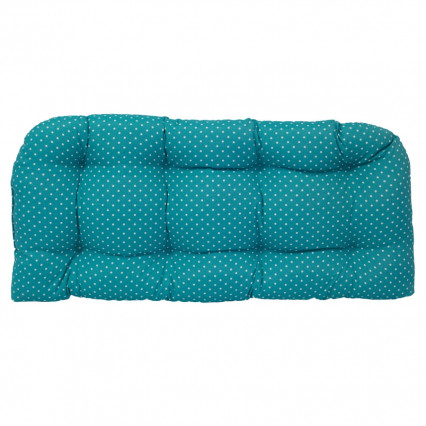 Settee Cushion - Mini Dot Ocean