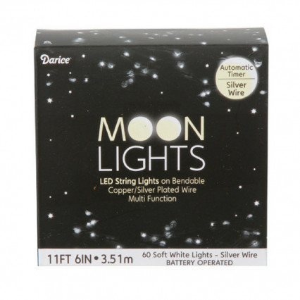 60 LED Soft White Moon Lights