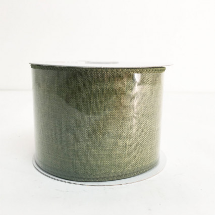 "2.5""X10Y Forest Green Canvas Ribbon"