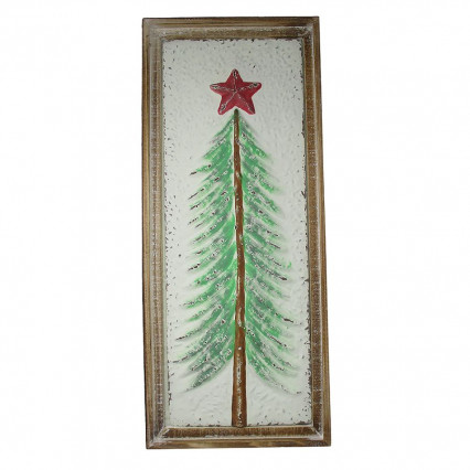 Christmas Tree Metal Painted Hanging Sign