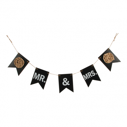 Darice Wedding Garland Mr & Mrs Chalkboard