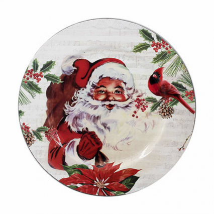 "13"" Santa Claus Charger Plate"