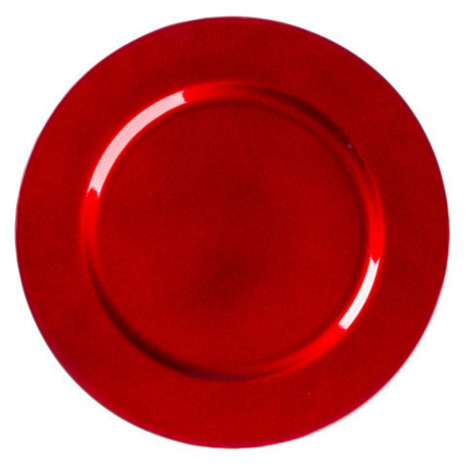 "13"" Red Charger Plate"