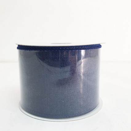 "2.5"" x 10Y Navy Canvas Ribbon"