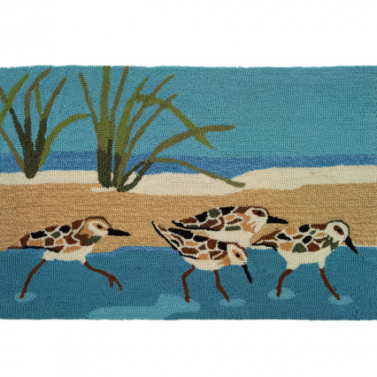 Homefires PY-BT001 Oceanside Sandpipers Rug