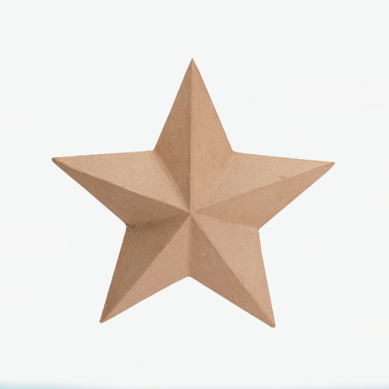Darice Paper Mache Star - 12 inches
