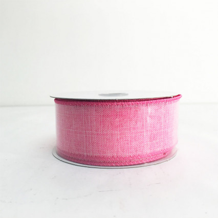 "1.5"" x 10Y Pink Canvas Ribbon"