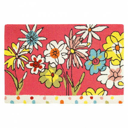 Homefires PY-MC007 Polka Dots & Flowers Rug