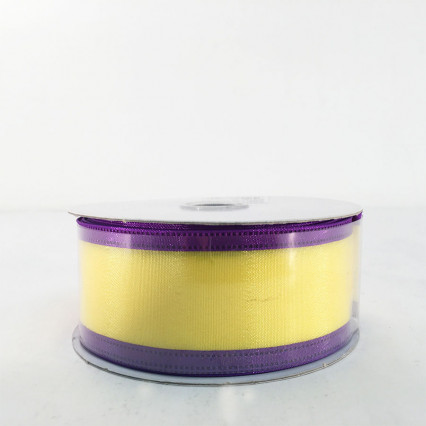 "Jascotina 1.5"" x 10Y Yellow and Purple Ribbon"