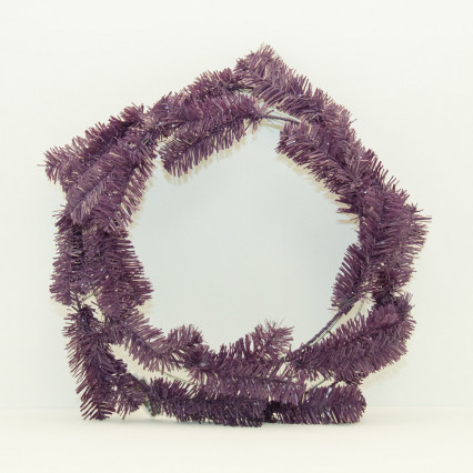 "24"" Purple Pine Work Wreath"