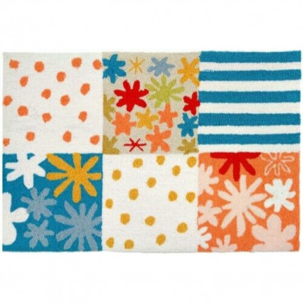 "22""x34"" Summer Vacation Hand Hooked Accent Rug"