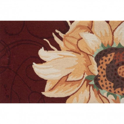 "22""x34"" Radiant Sunflower Hand Hooked Accent Rug"