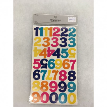 Rainbow Numbers Stickers