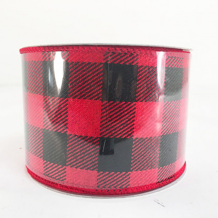 "2.5"" x 10Y Red and Black Chex Pattern"