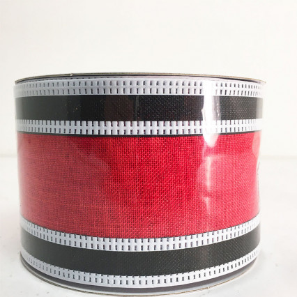 "2.5"" x 10YD Red and Black Ribbon"