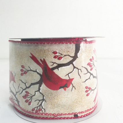 "2.5"" x 10Y Red Cardinal Ribbon"