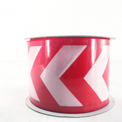 "Jascotina 2.5"" x 10Y Red and White Pattern Ribbon"