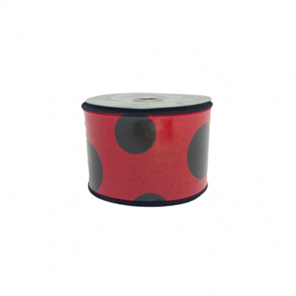 Red & Black Polka Dot Ribbon