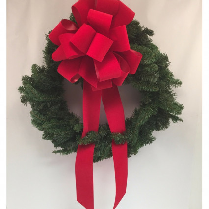 "Carolina Pottery RBW Red Bow 24"" Christmas Wreath"