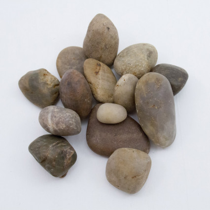 Mixed Color River Rocks – 2 lb. Bag