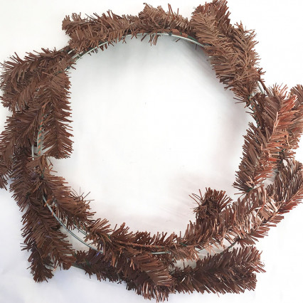 "Work Wreath, 24"" Rust Brown"