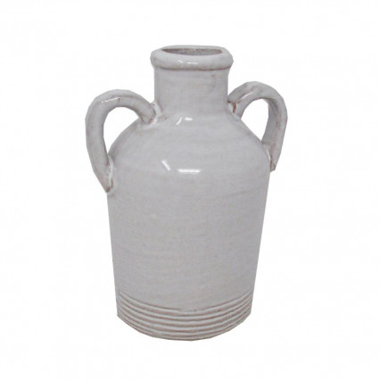 "5"" Small Ceramic Jug Vase with Handles"