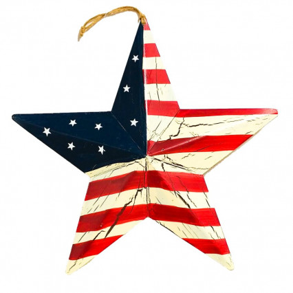 US Flag Barn Star - Small