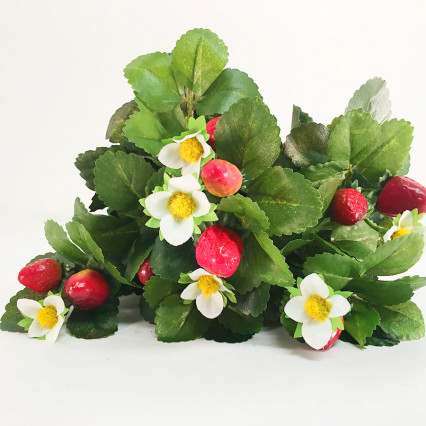 "16"" Artificial Strawberry Bush"