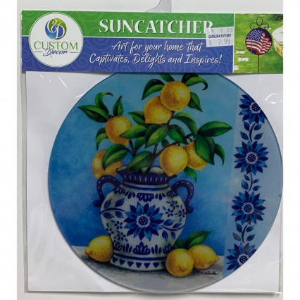 Sun Catcher - Blue Willow with Lemons