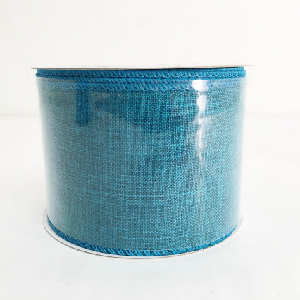 "2.5"" x 10Y Teal Canvas Ribbon"