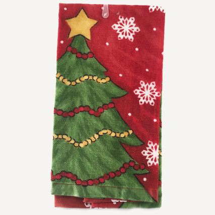 Ritz 13979 Fiber Reactive Kitchen Towel Christmas Tree   100% Cotton