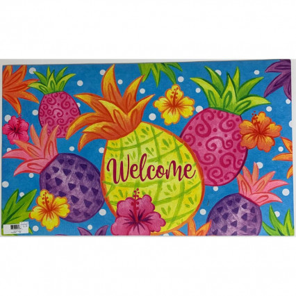 Tropical Pineapples Doormat