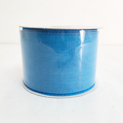 "2.5"" x 10Y Turquoise Canvas Ribbon"