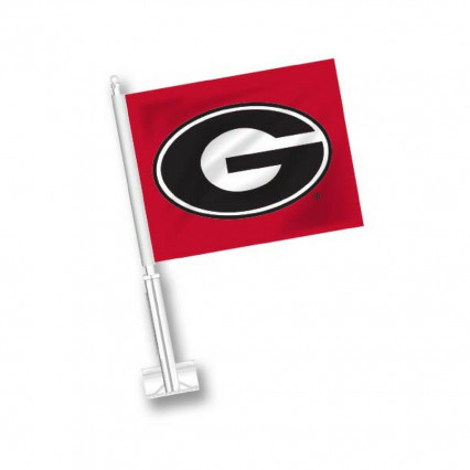 Georgia Bulldogs Car Flag - Red w/ G